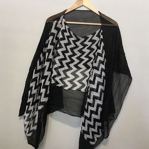 Urbayn cape scarf sheer see through